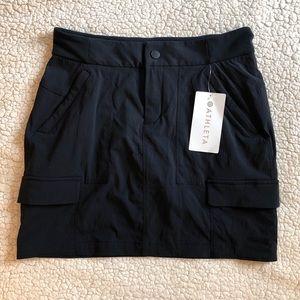 Athleta Black Causal Trekkie Skort 2.0 Size 6